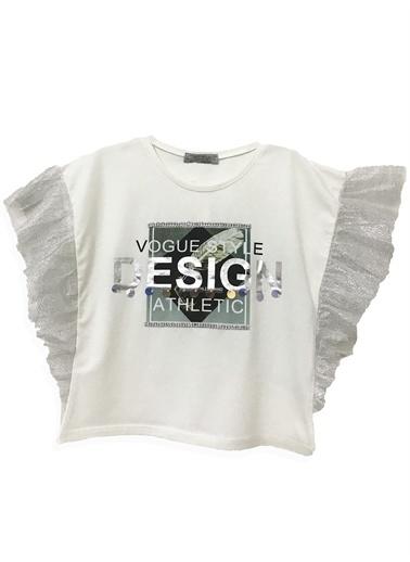 Little Star Little Star Kız Çocuk Design T-Shirt Krem